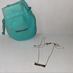 Retired Vintage Tiffany & Co. Notes Bar Necklace